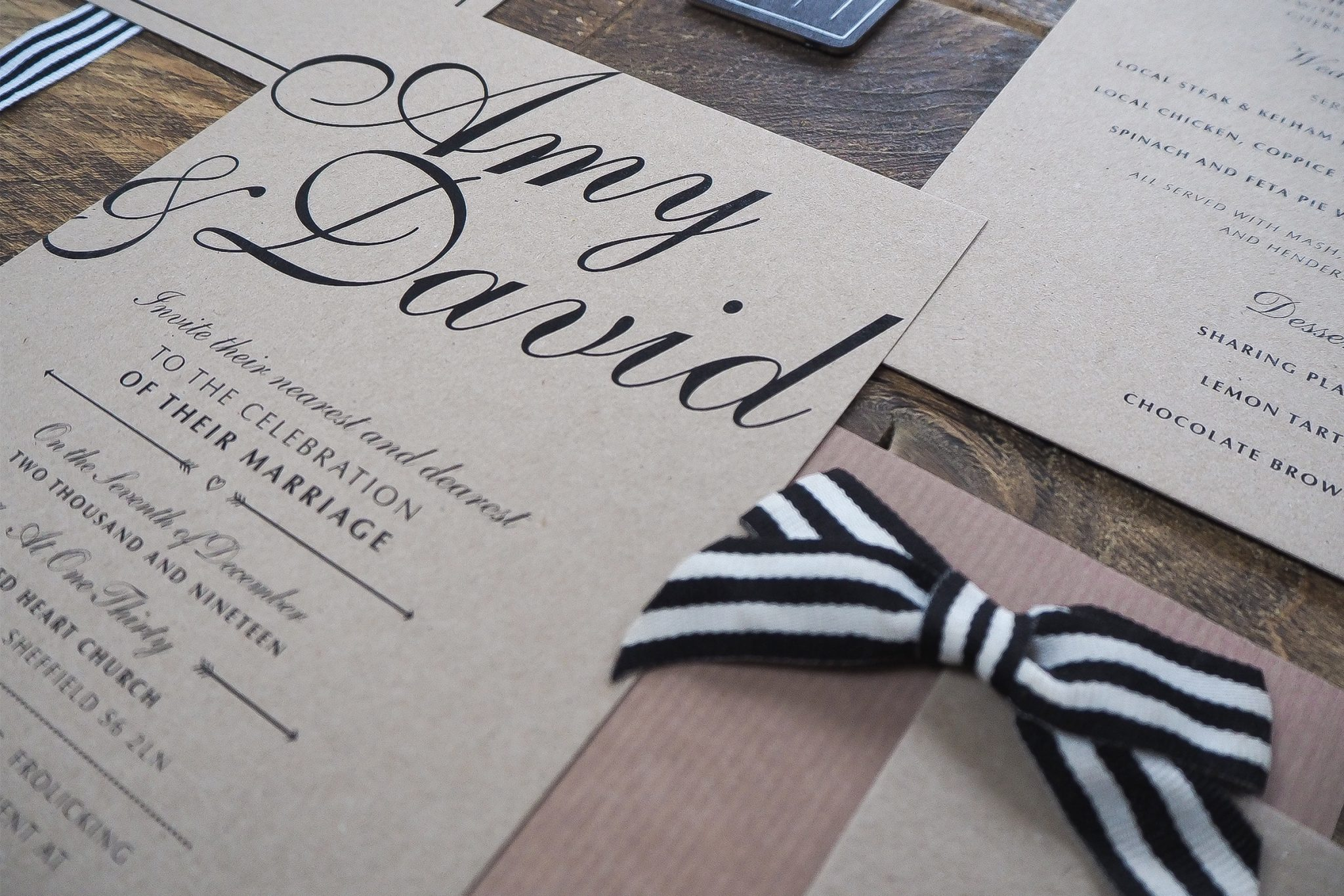 amy and dave wedding stationery 2