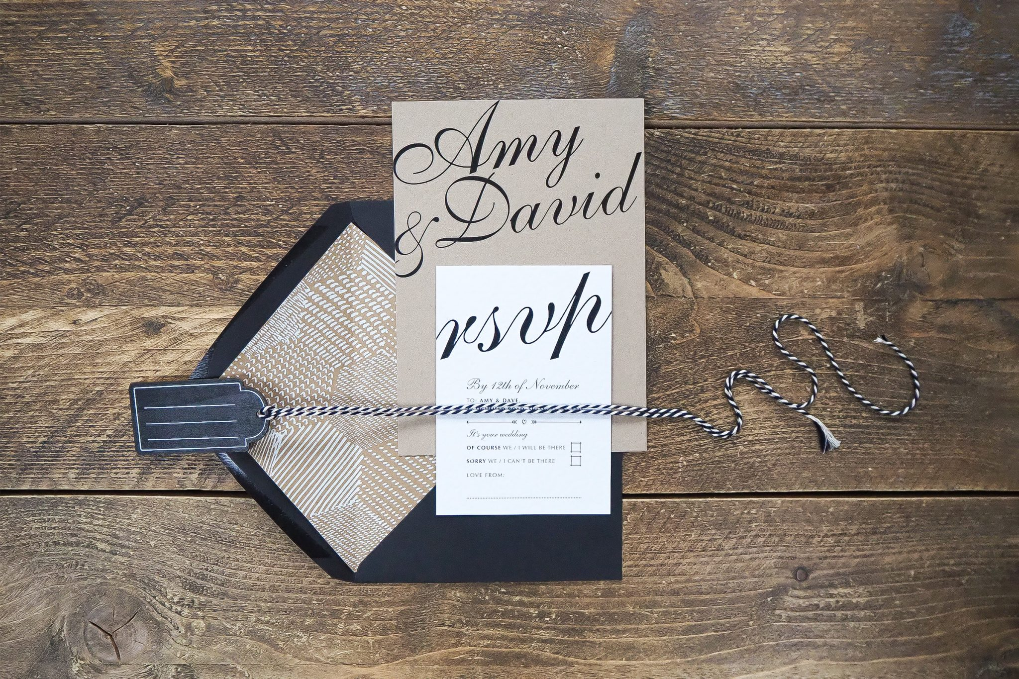 amy and dave wedding stationery 4