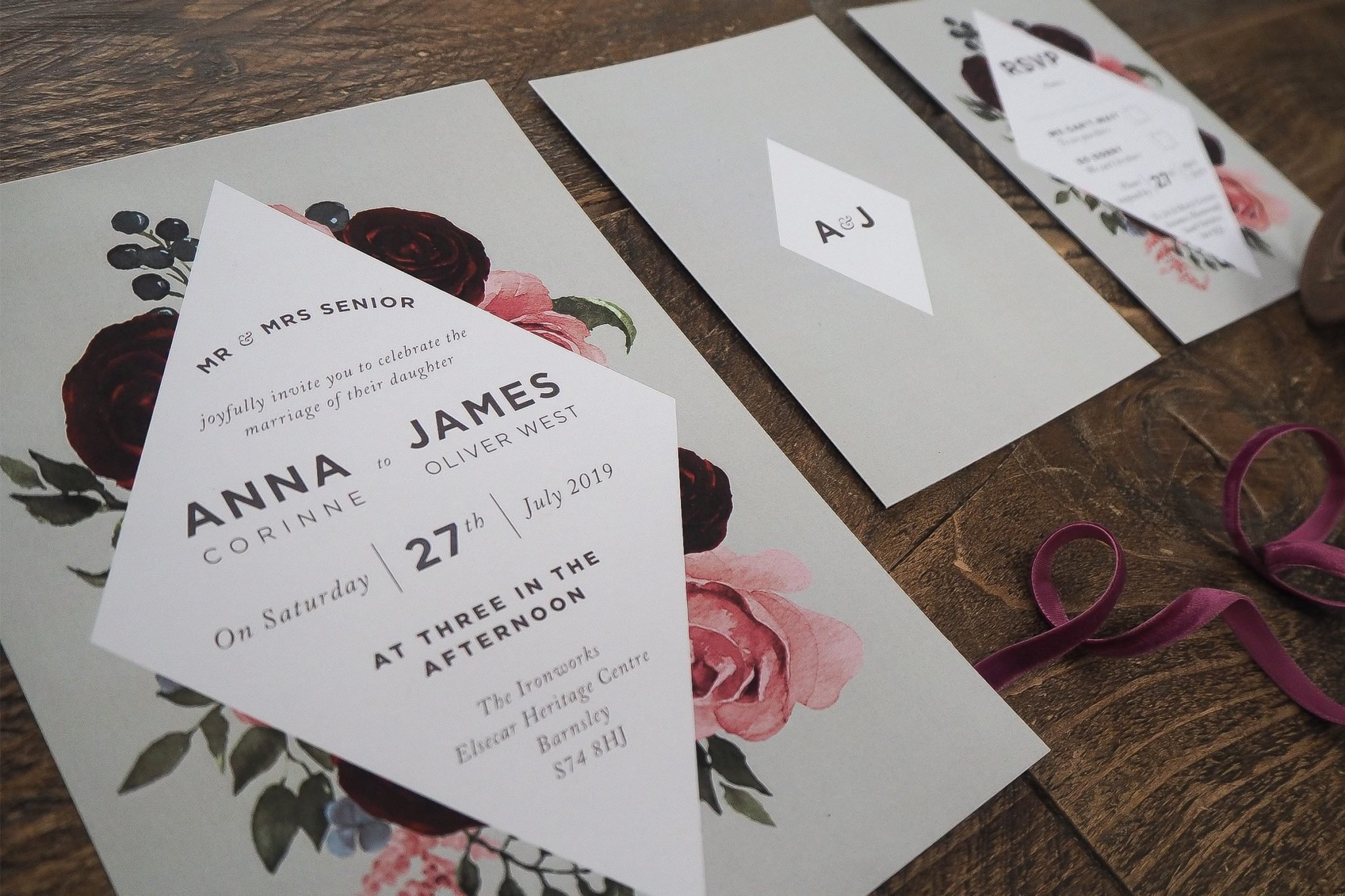 anna and james wedding stationery 3