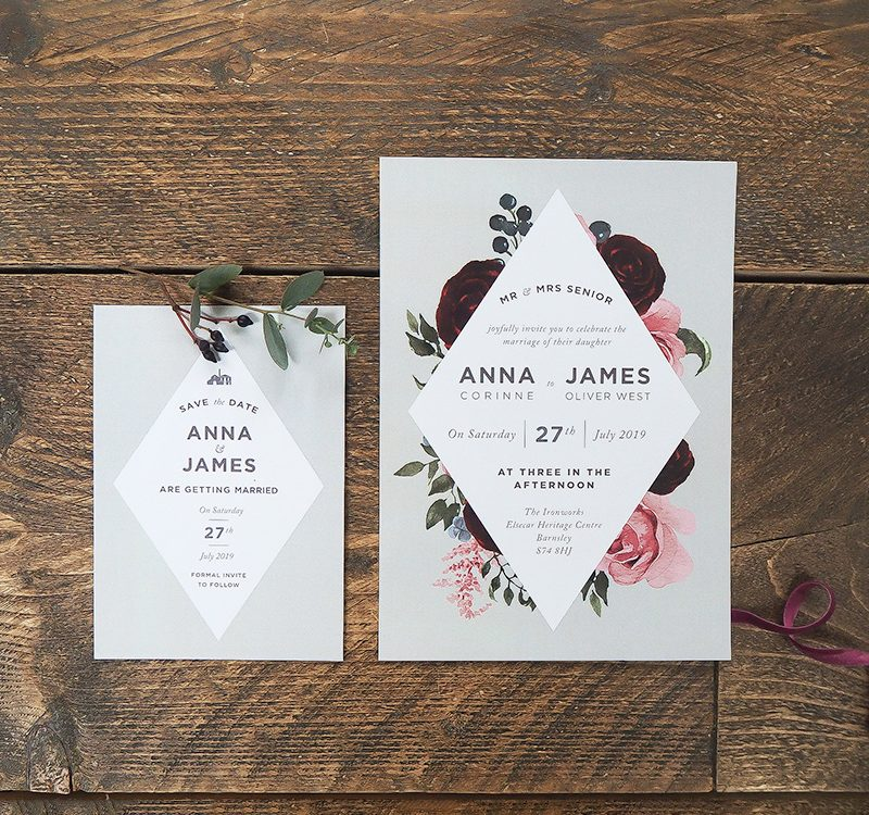 Geometric Wedding Stationery