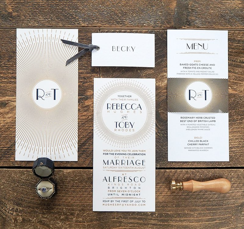 Art Deco Inspired Wedding Stationery