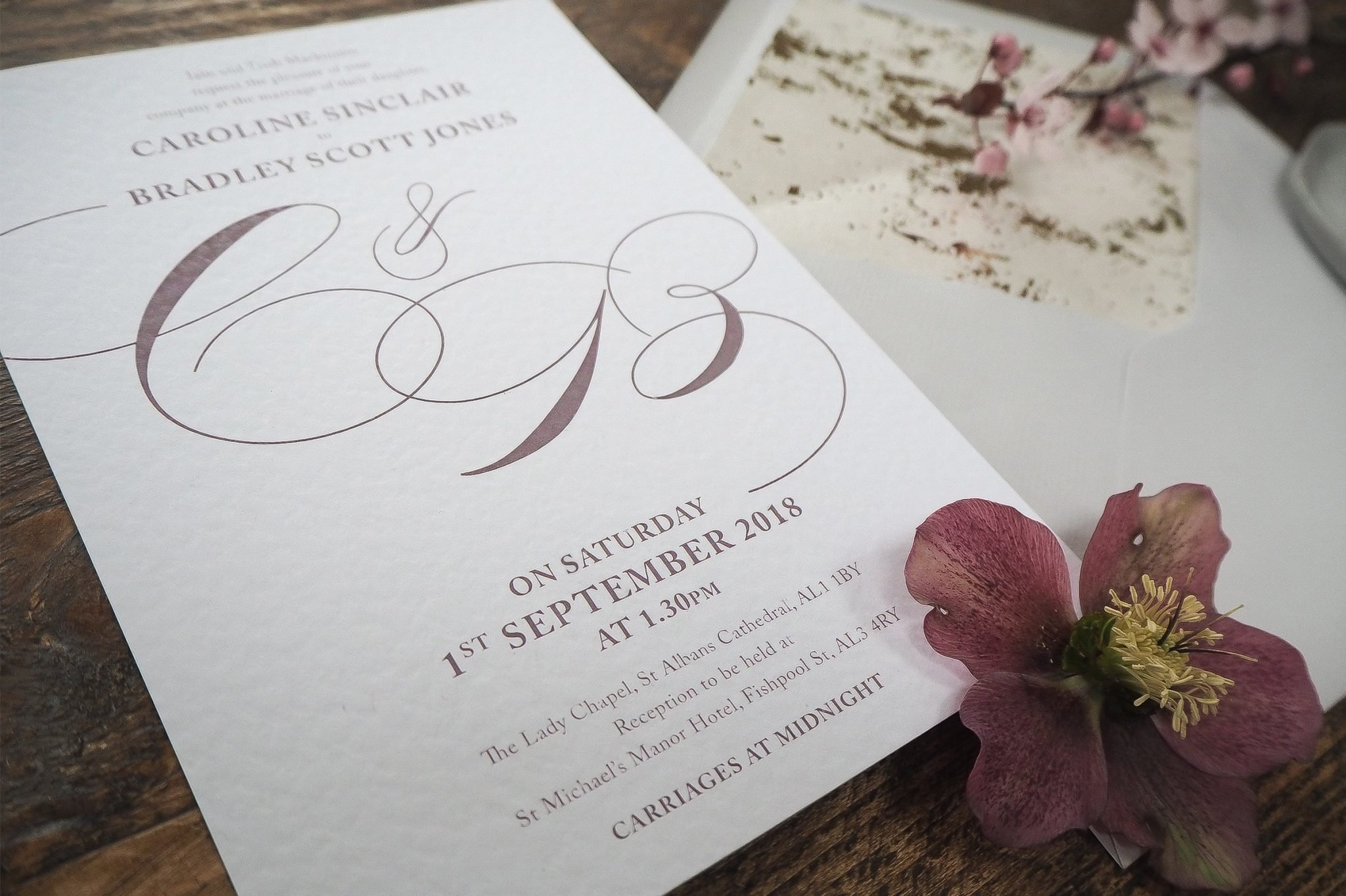 caroline and bradley wedding stationery 2