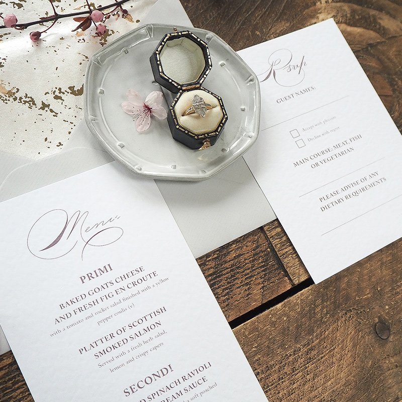 caroline and bradley wedding stationery 3