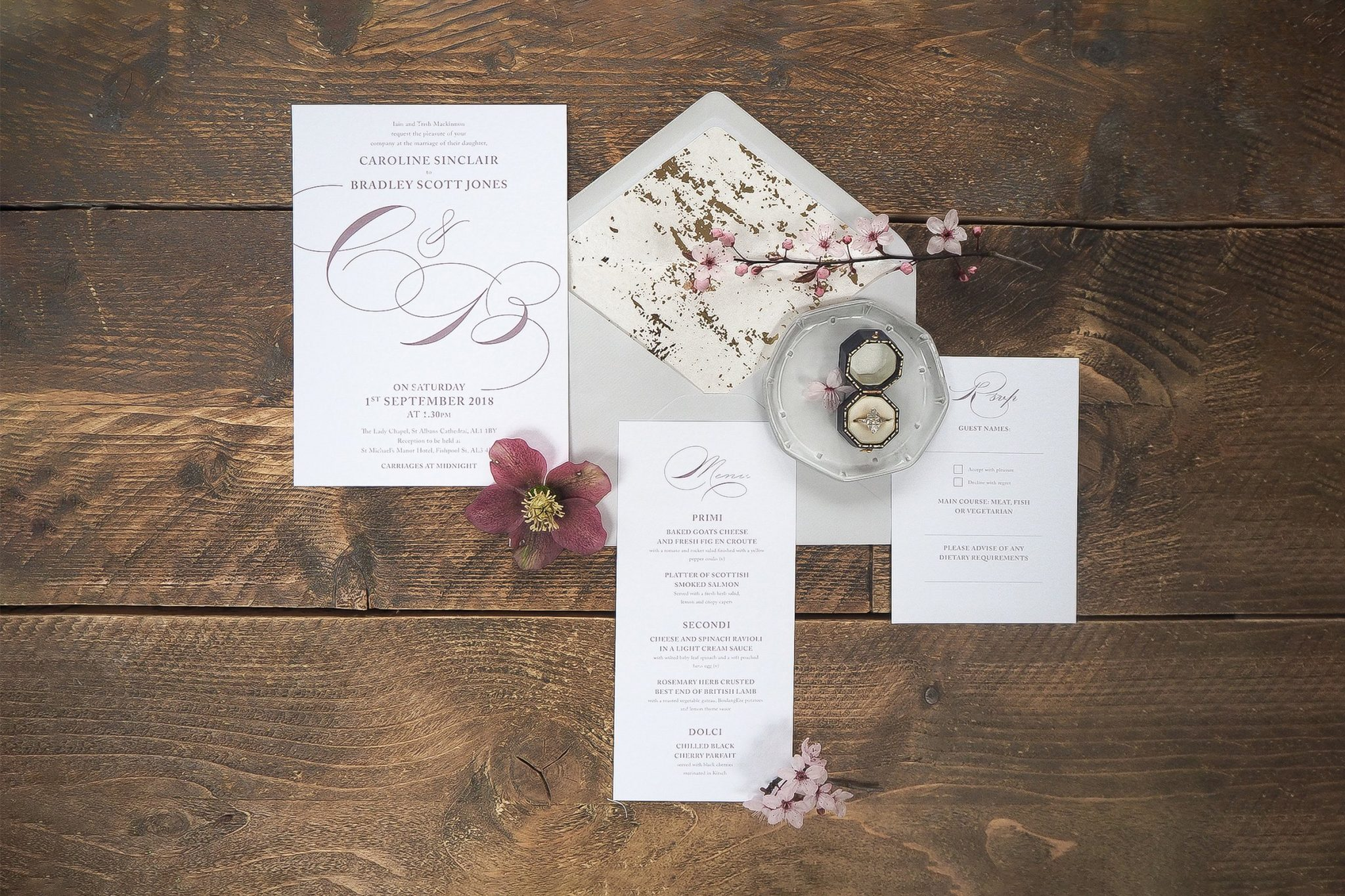 caroline and bradley wedding stationery 5