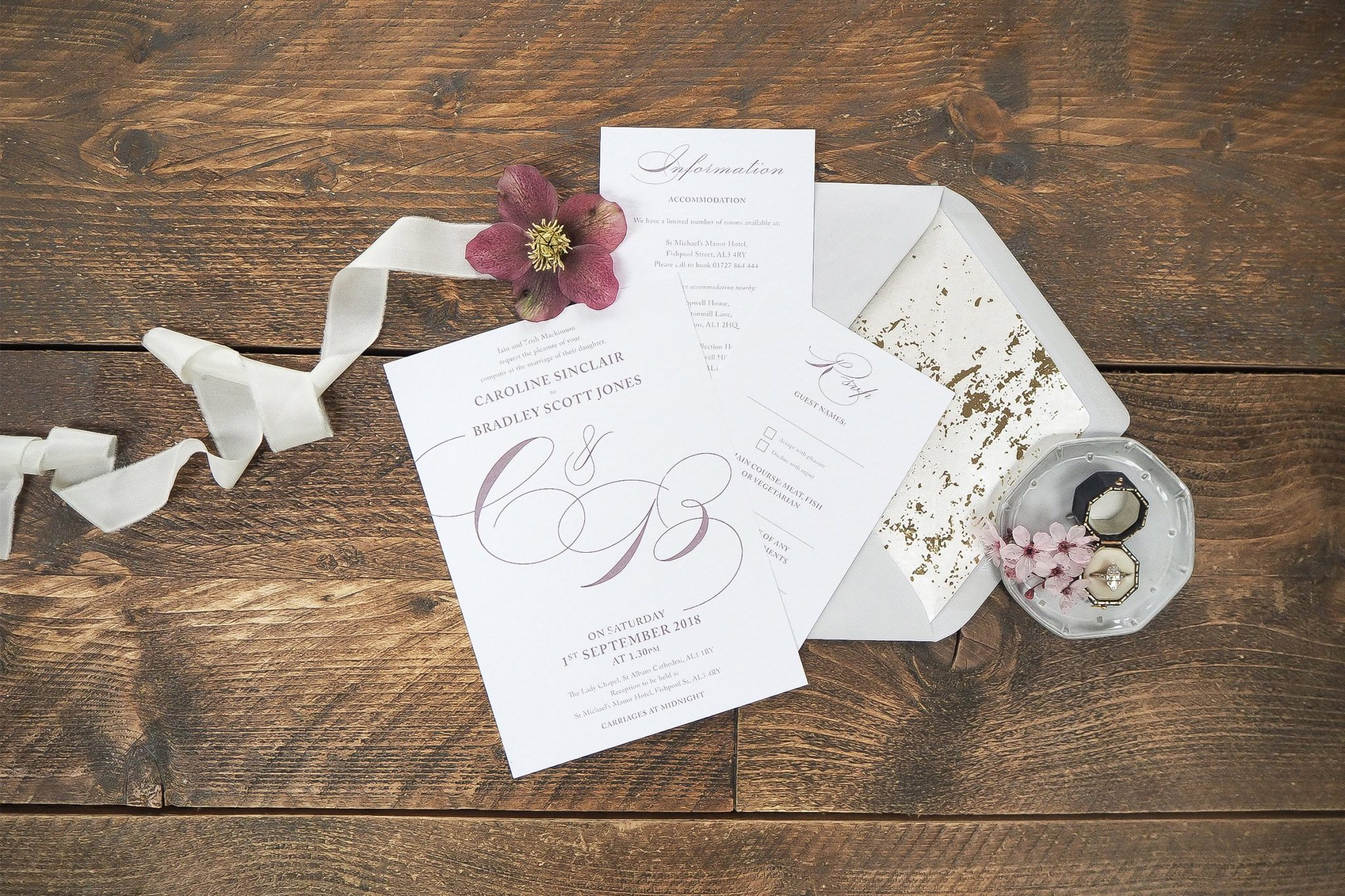 caroline and bradley wedding stationery 8