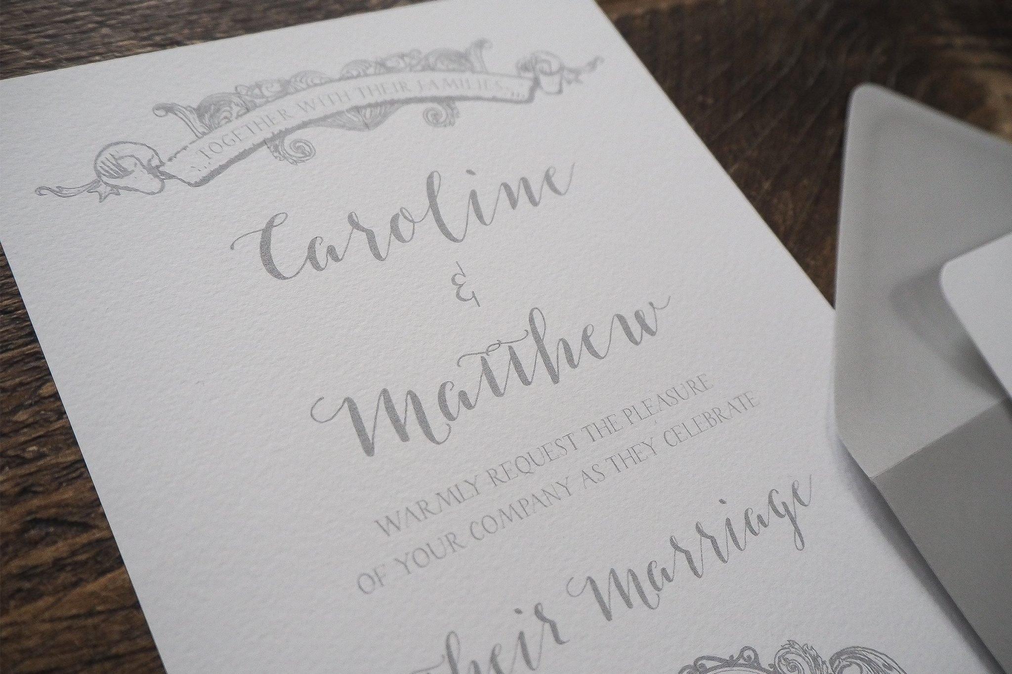 caroline and matthew wedding stationery 2