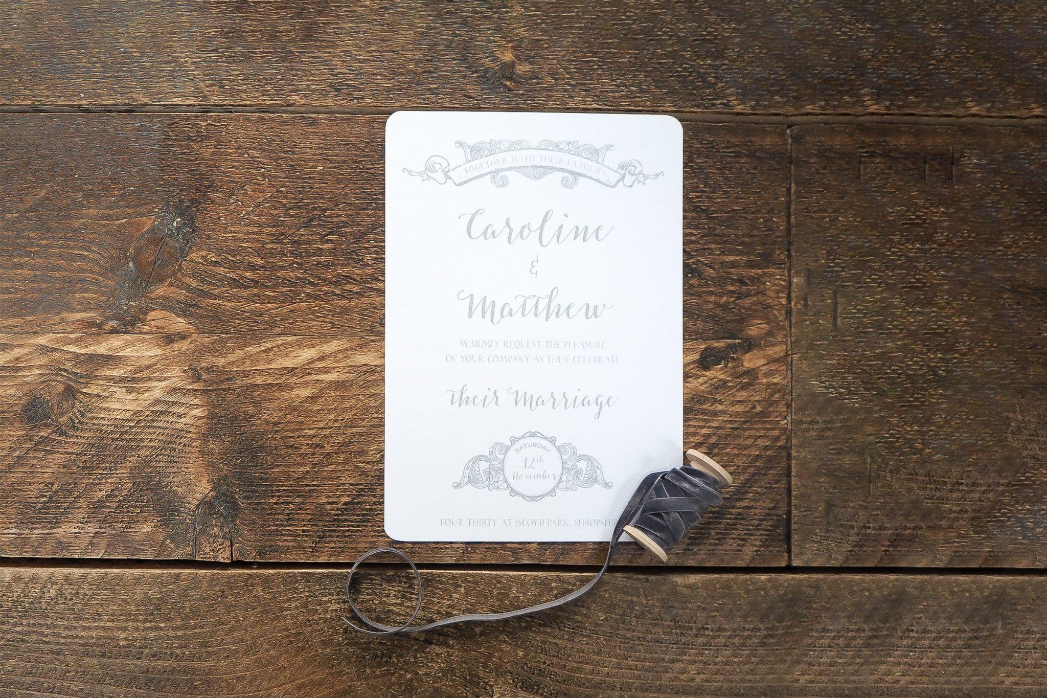caroline and matthew wedding stationery 5
