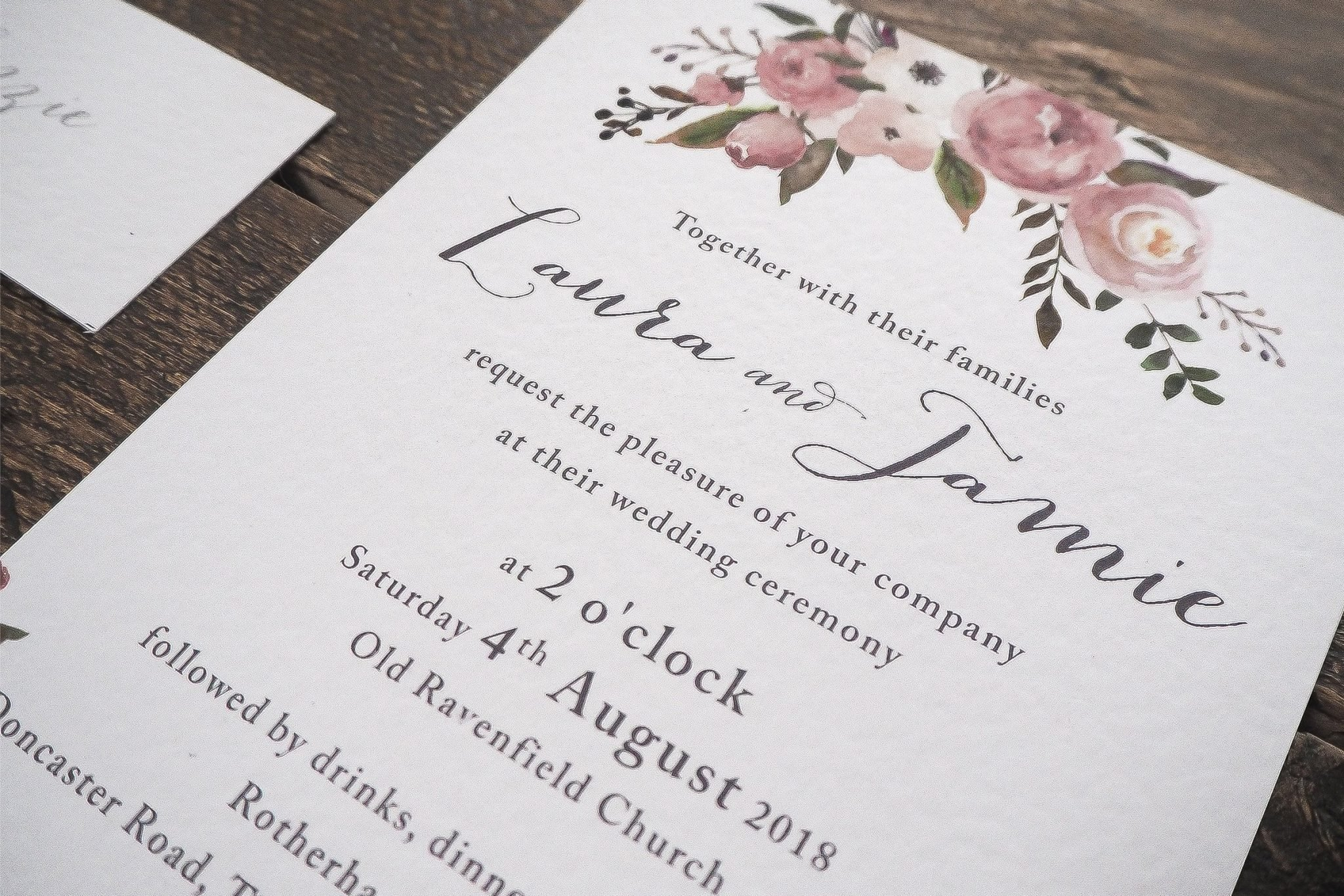 laura and jamie wedding stationery 2