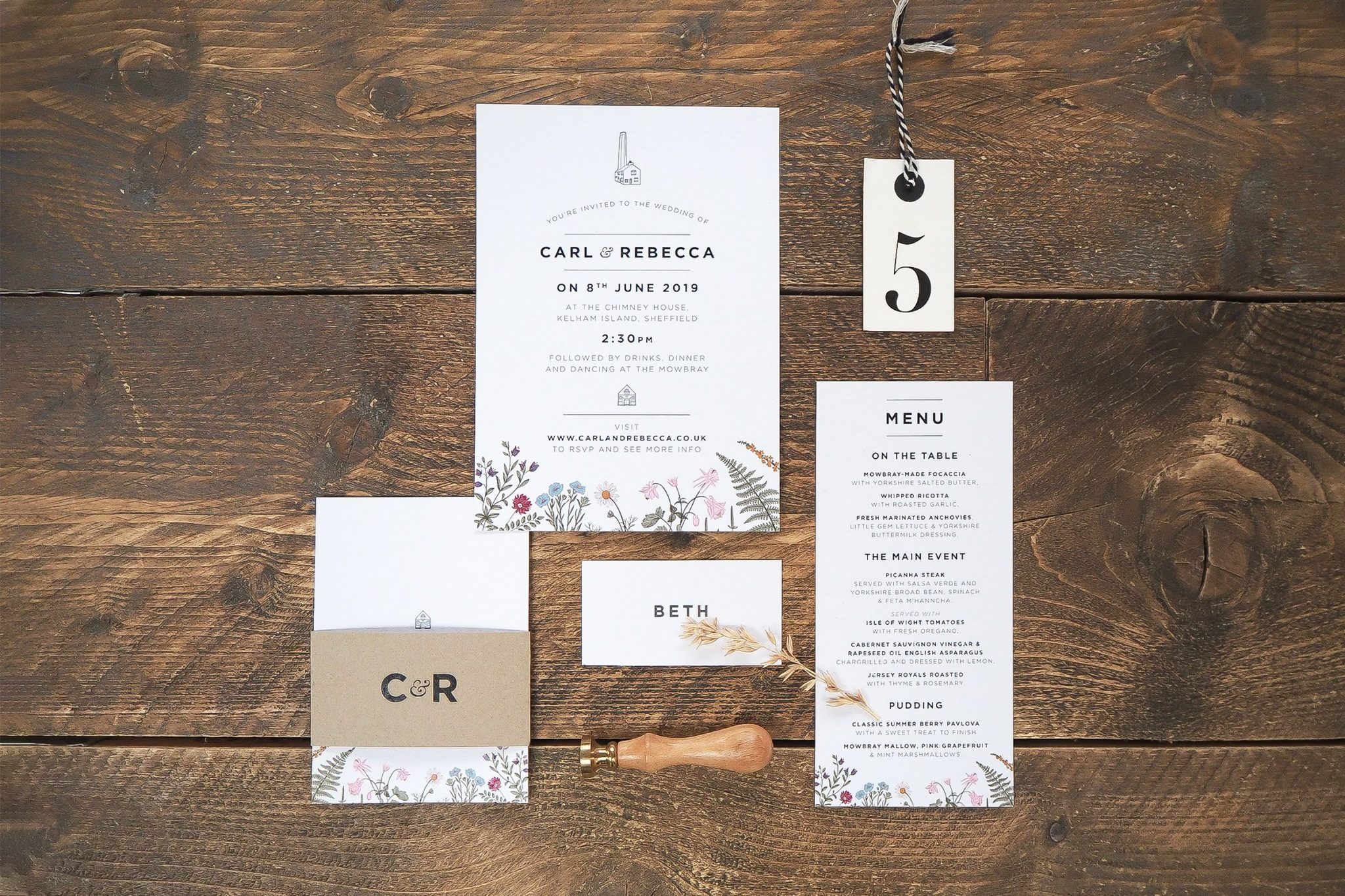 rebecca and carl wedding stationery 3