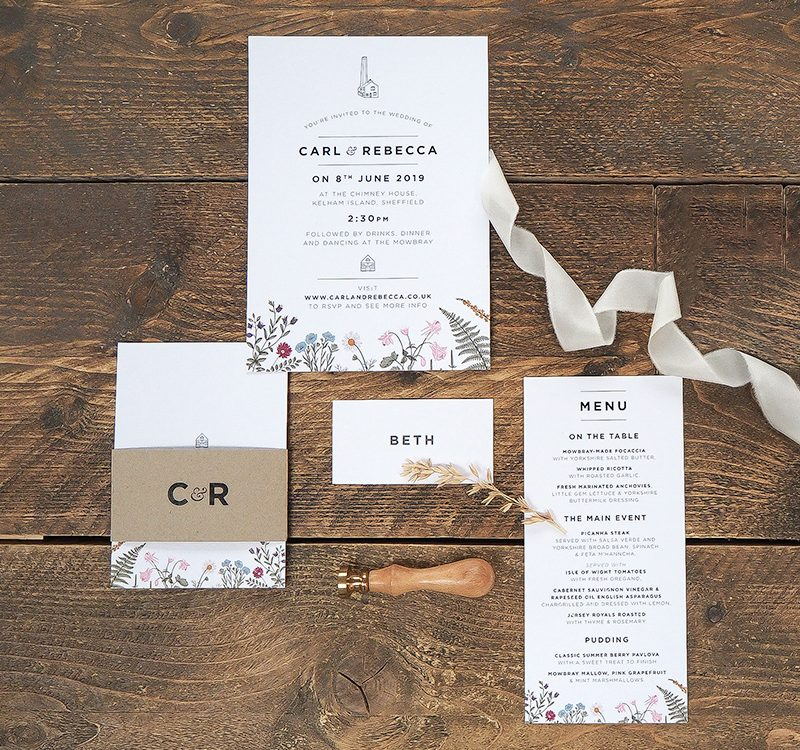 Industrial Chic Wedding Invitations